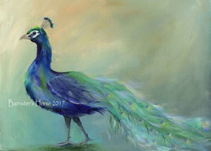 Image of POSING PEACOCK, FINE ART PRINTS