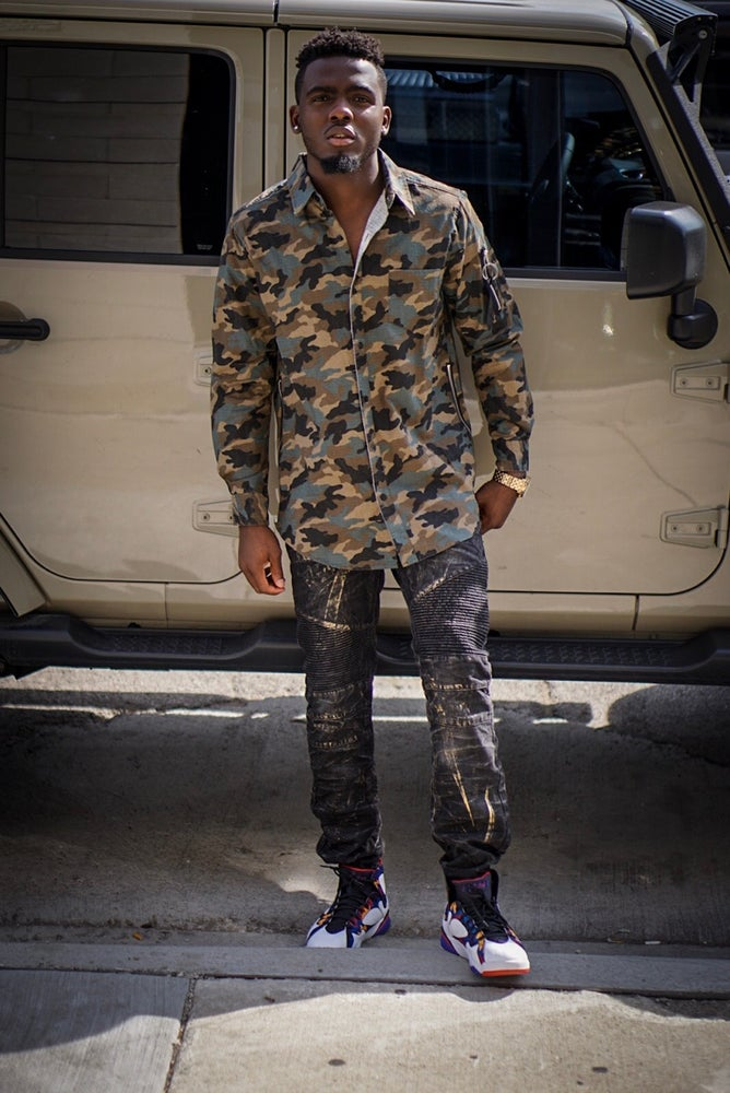 Image of Mens Camo Button up