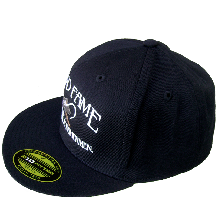 fe0f9a12 210 fitted hat w classic logo black fish and fame company