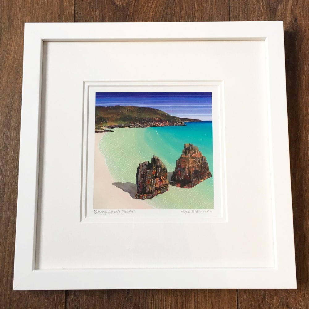 Image of Garry beach, Tolsta small giclée print