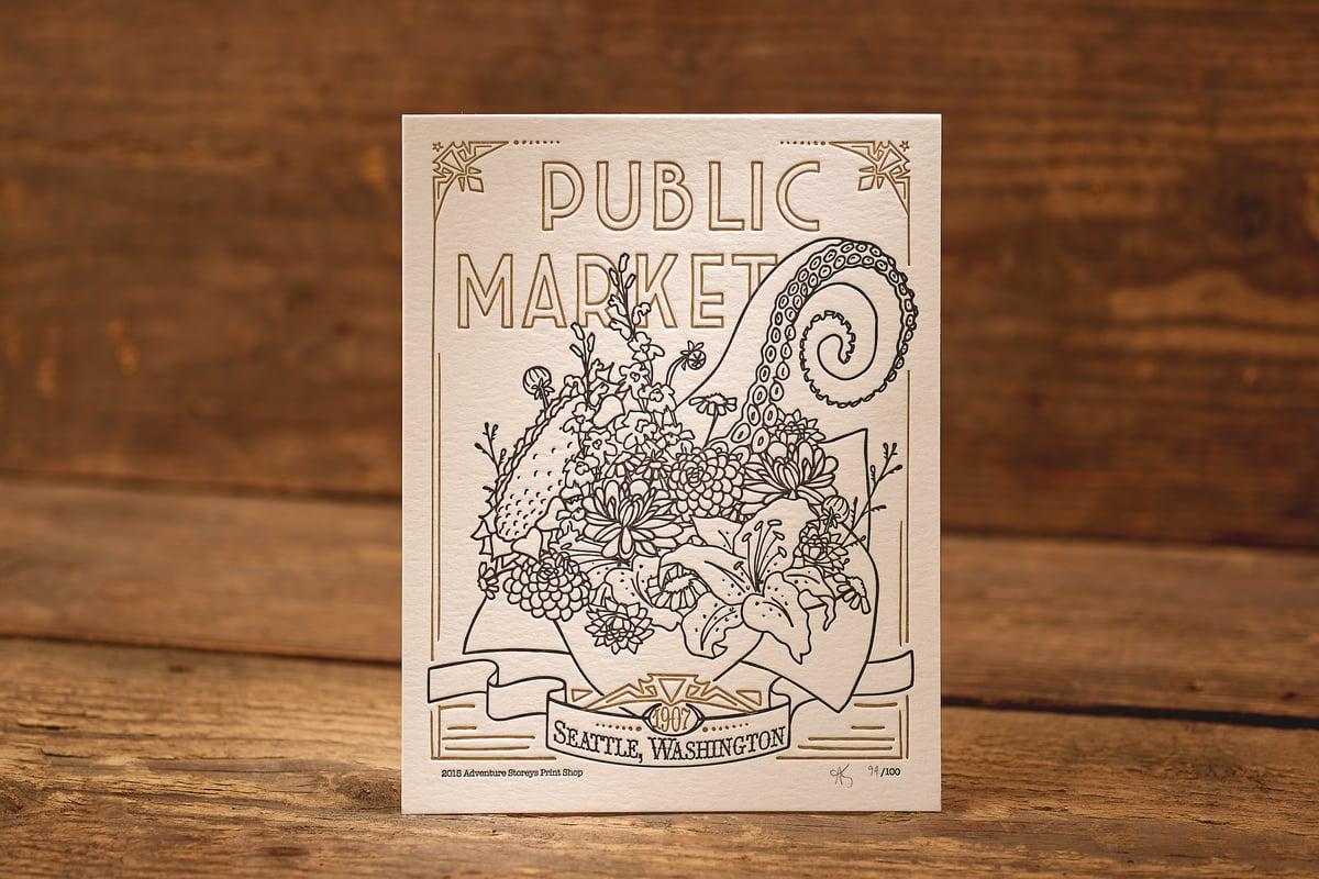"Image of Market Bouquet - Limited Edition Letterpress Print (8.5 x 11"")"