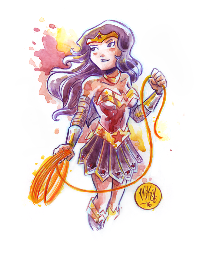 Image of Wonder Woman Watercolor