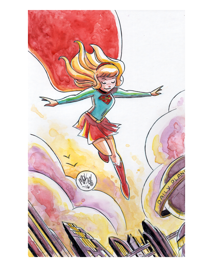Image of Supergirl Watercolor
