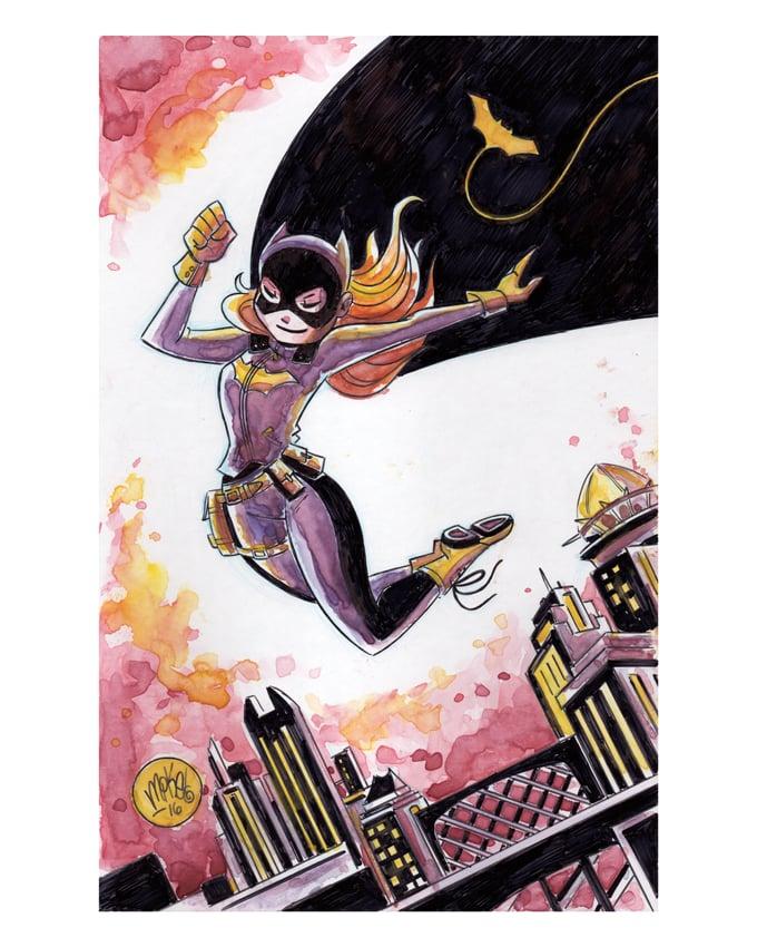 Image of Batgirl Watercolor