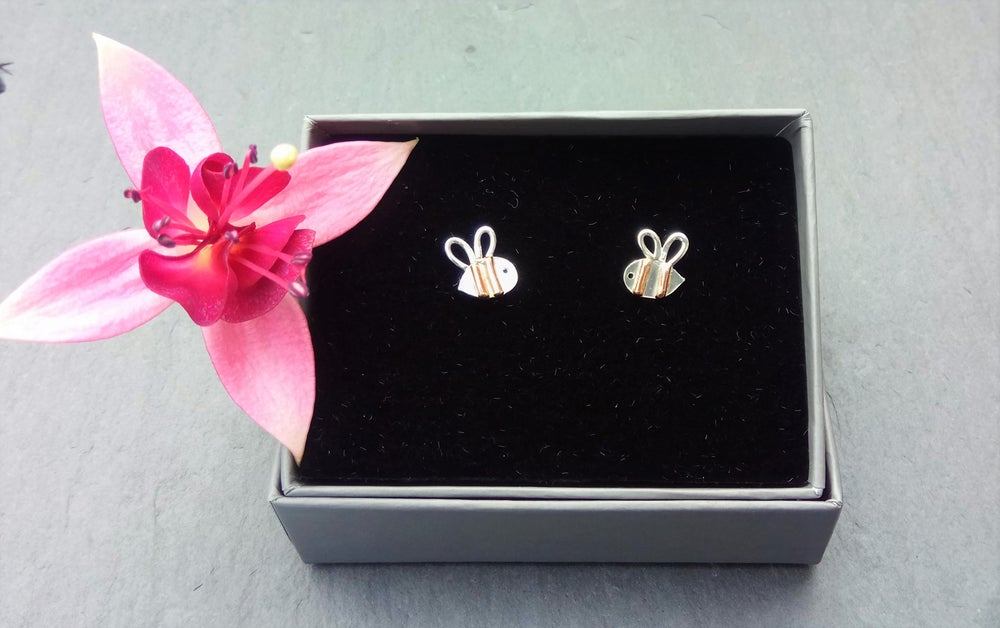Image of Tiny Bumble Bee Studs