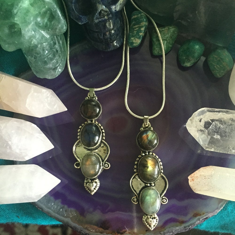 Image of Labradorite Triplet Totem Sterling Silver Necklace
