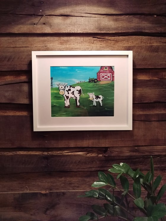 "Image of ""Udder Enchantment"" (Framed Print)"