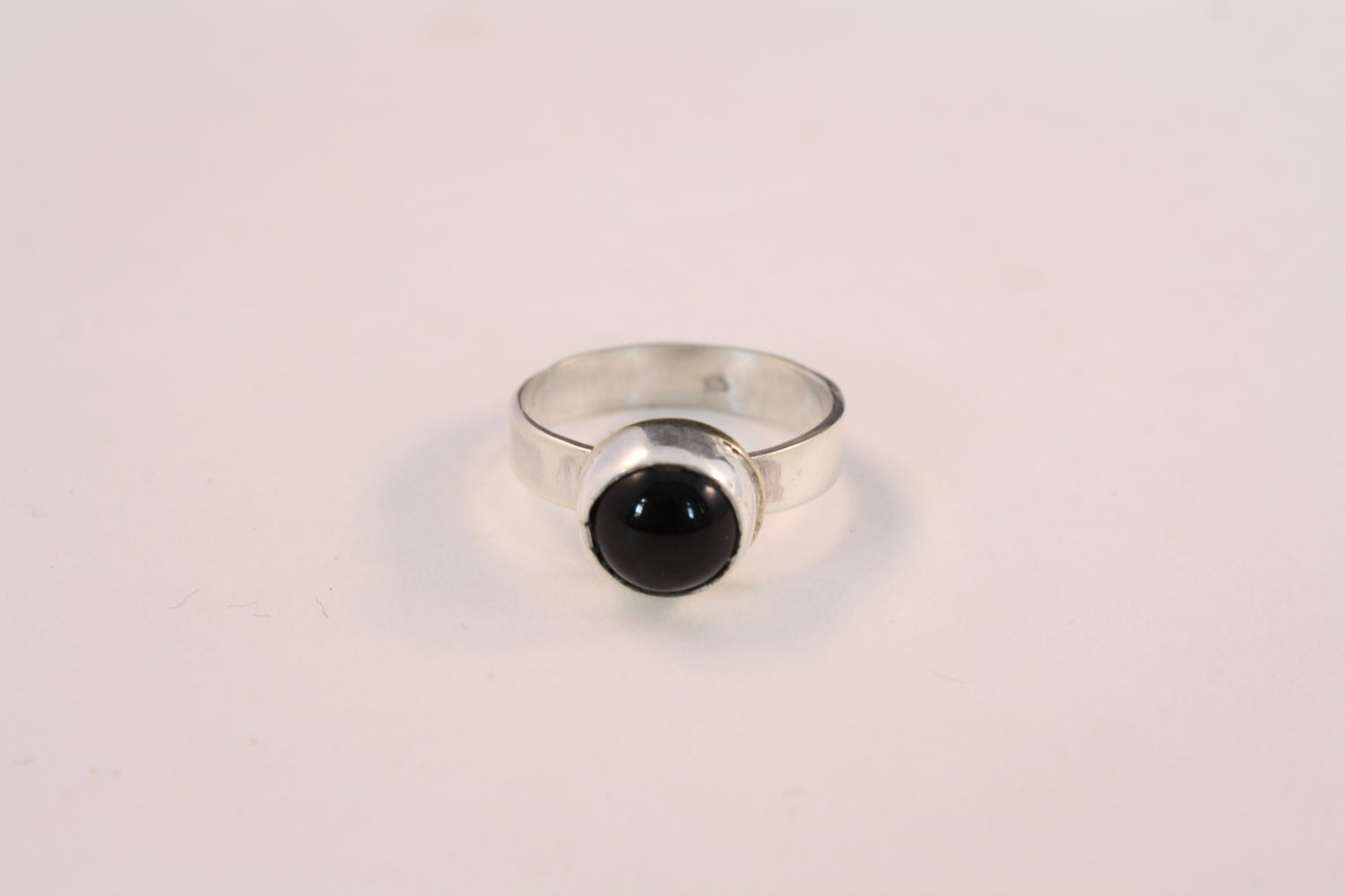 Image of Black Onyx Sterling Silver Ring/ONYX ESTELLE