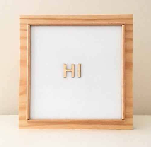 Image of Wooden Magnetic Sign Board