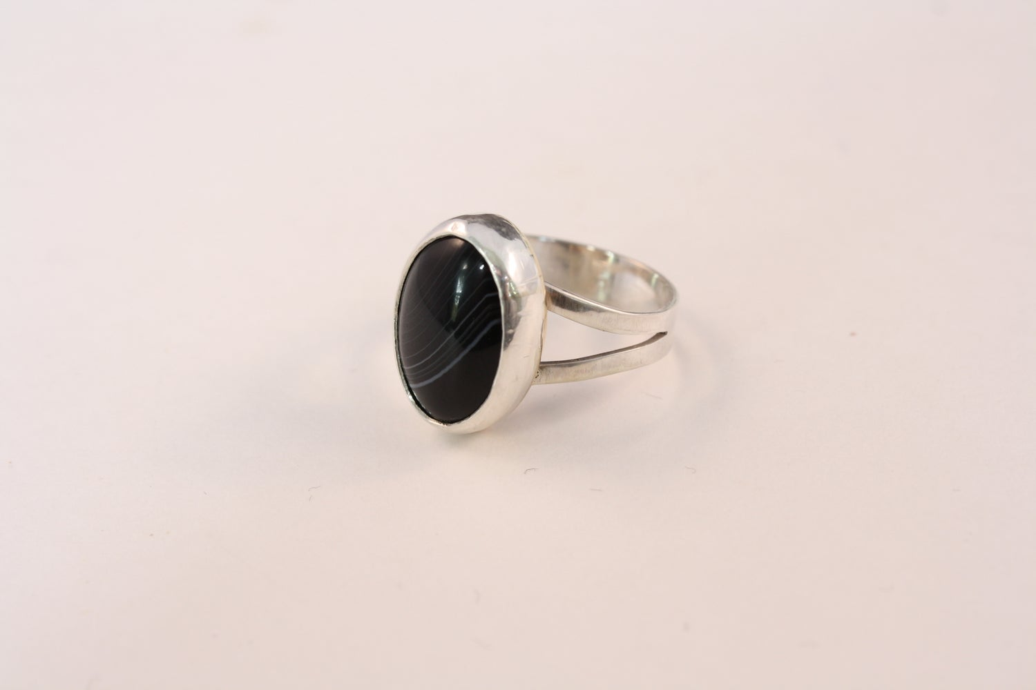Image of Tuxedo Onyx Sterling Silver Ring/ONYX ESTELLE