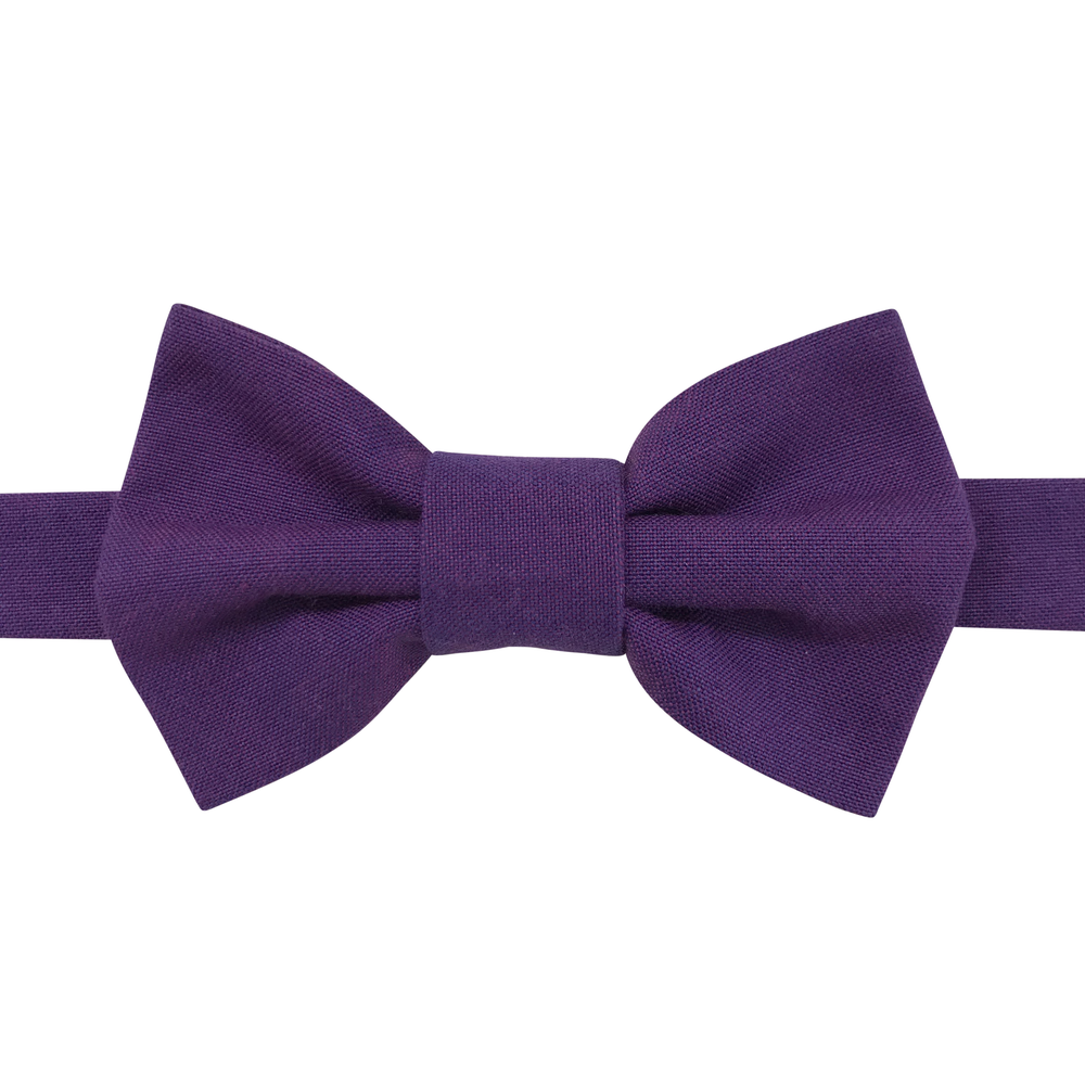 Image of purple chambray bow tie