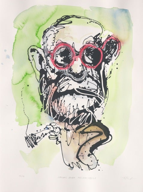Image of Natural Born Pollock / Freud hand finished (Green)