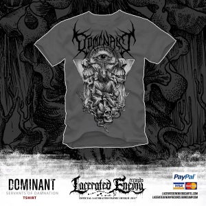 Image of DOMINANT - Servants of Damnation Tshirt