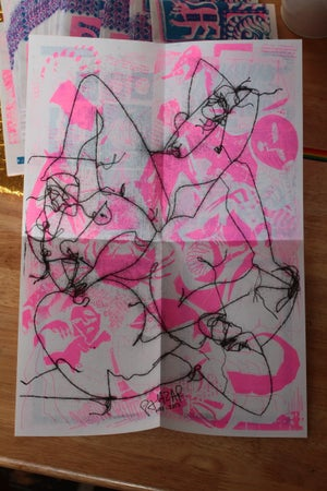 Image of poster/zine n2 Riso print
