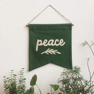 Image of PEACE Banner - green