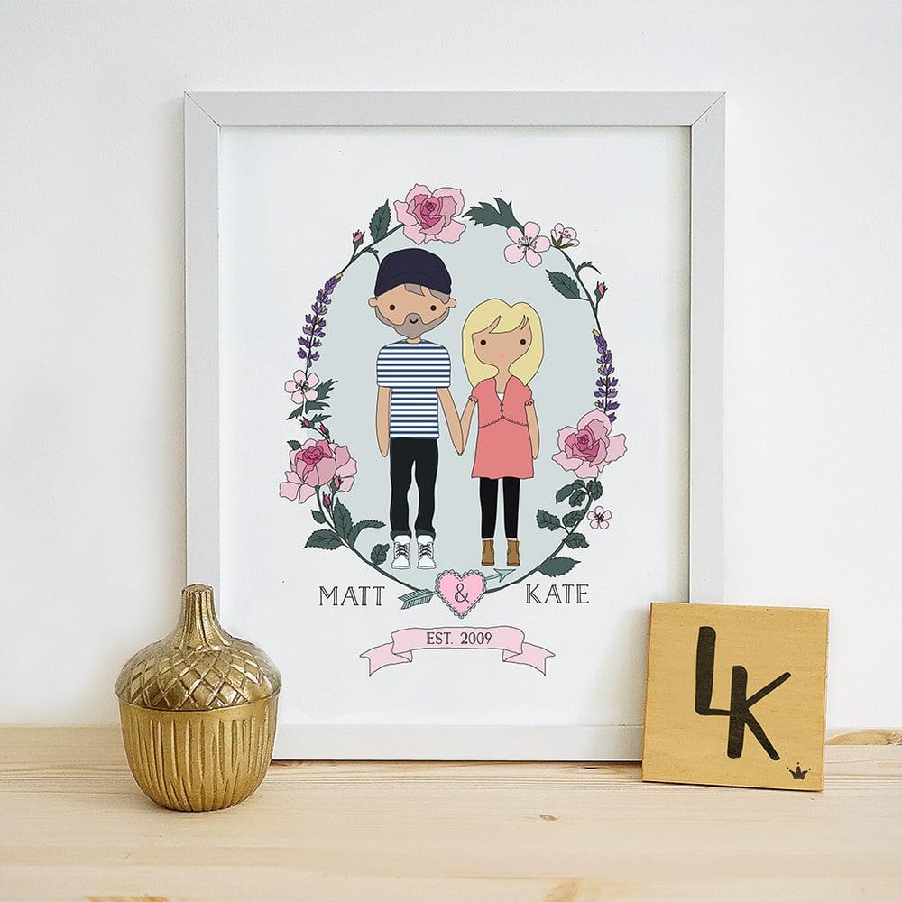 Image of Personalised Couple Illustration