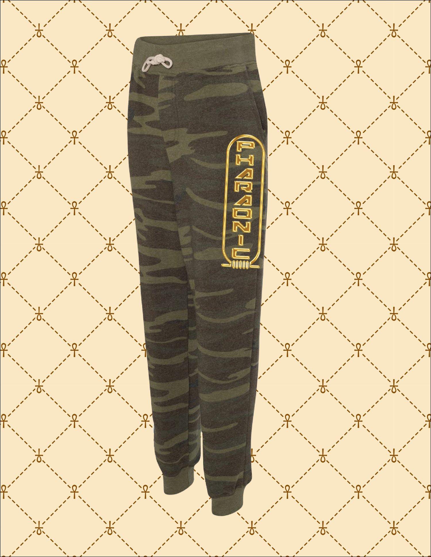 Image of Unisex Pharaonic Logo Camo Sweatpants