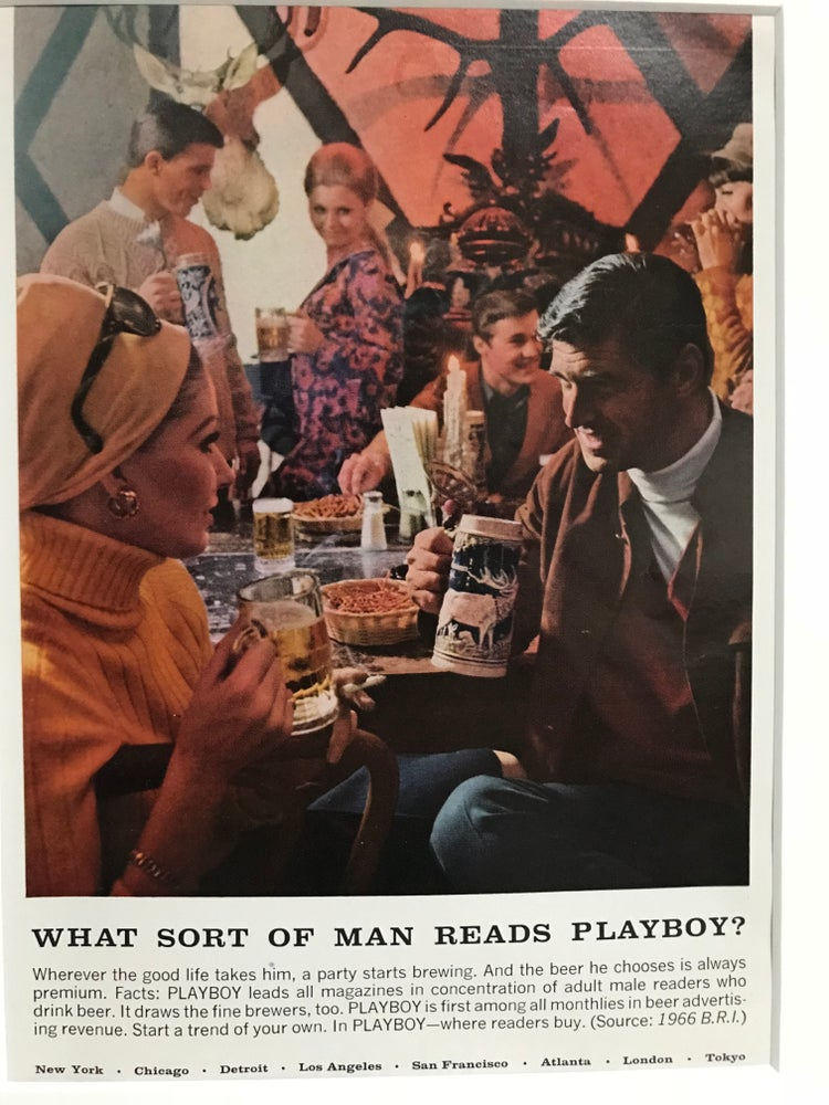Image of What Sort of Man Reads Playboy? Original 1965 Advertisement