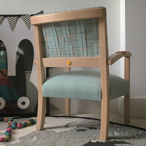 Image of The Kasper Chair - Mint & Copper