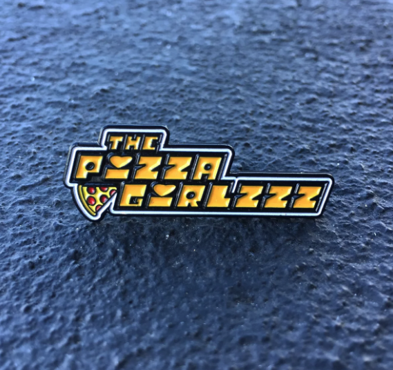 Image of The pizzagirlzzz powerpuff pin