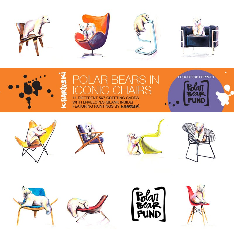 Image of POLAR BEARS + CHAIRS card set