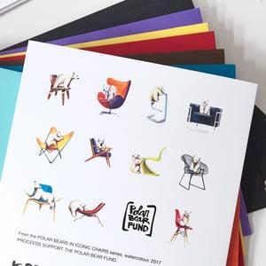 Image of POLAR BEARS + CHAIRS card set