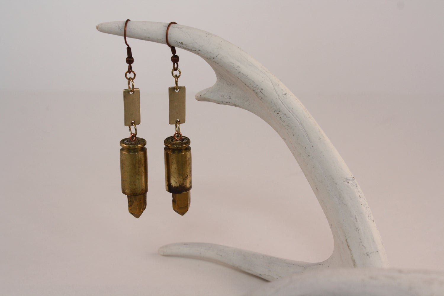 Image of Gold Tone Bullet Earrings