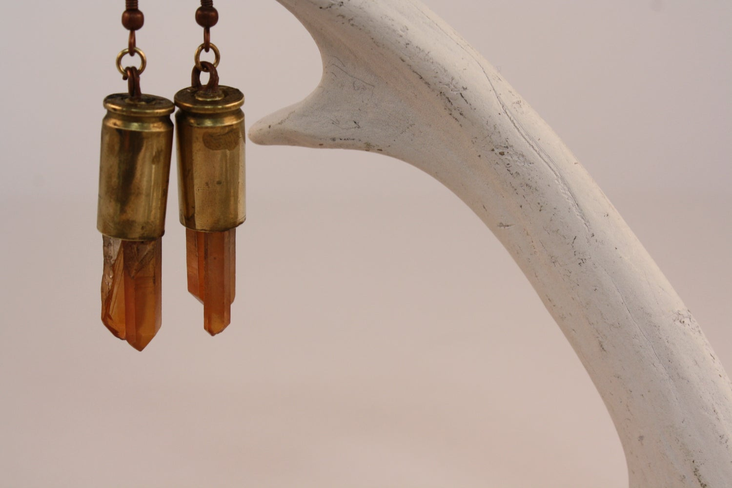 Image of Amber Shots Bullet Earrings