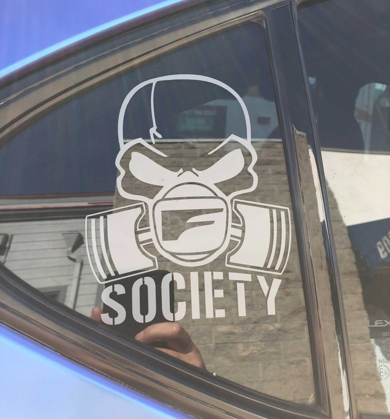 Image of Skull Decal *Gray*