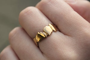 Image of Yellow Gold Vermeil Cracked Ring