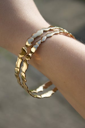 Image of Yellow Gold Vermeil Cracked Bangle