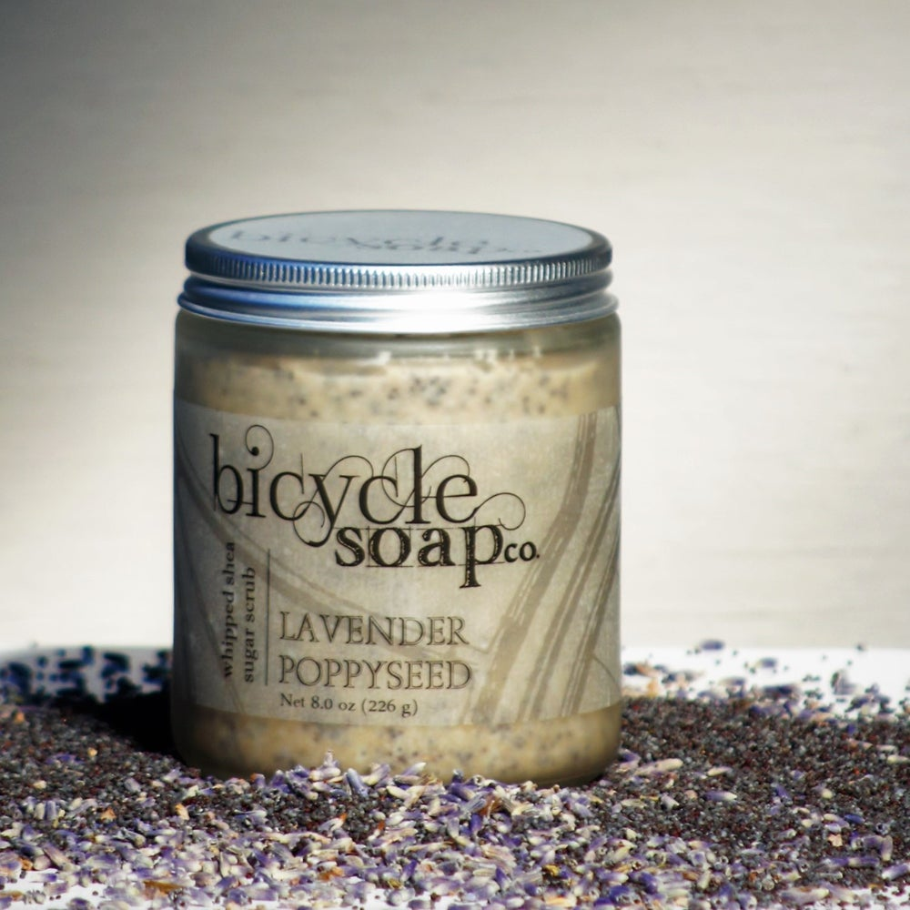 Image of Lavender Poppyseed Shea Butter Sugar Scrub