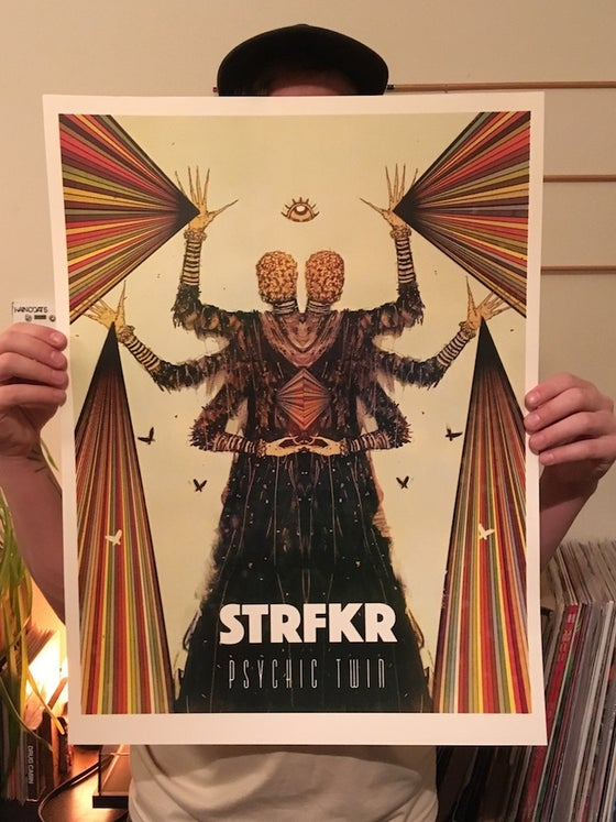 Image of STRFKR/Psychic Twin 2017/2018 Tour Poster.