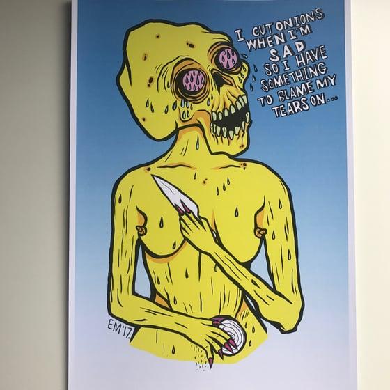 Image of Onions A4 Print
