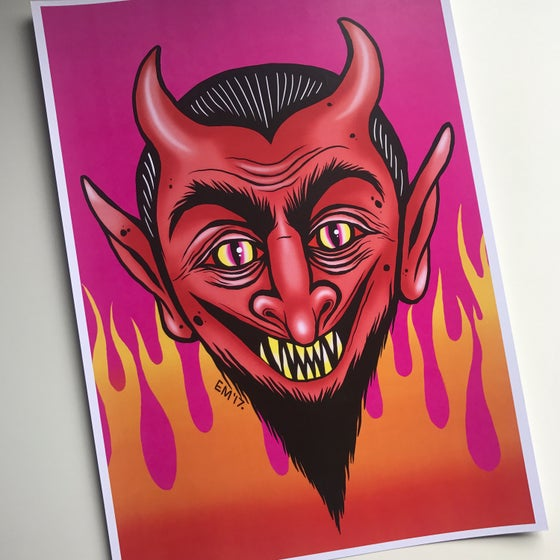 Image of The Devil Made Me Do It A4 Print