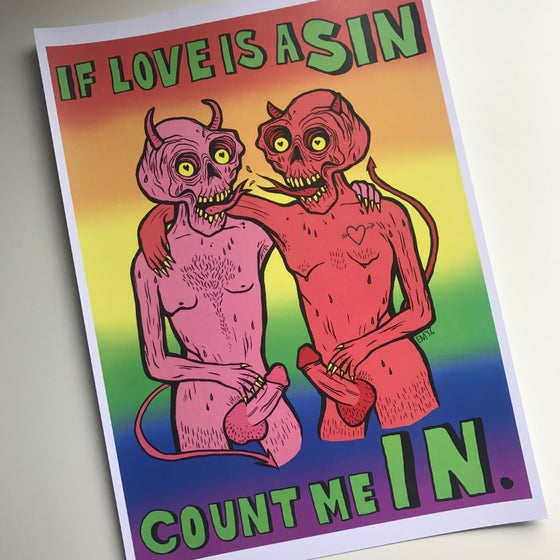 Image of If Love is a Sin... A4 Print