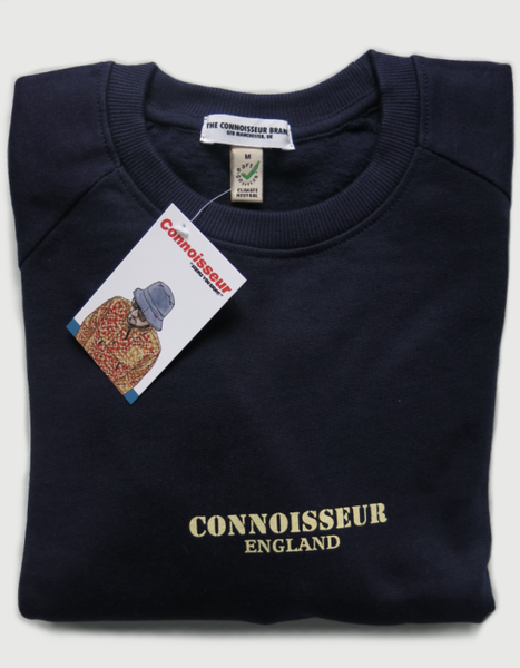 Image of SWEATSHIRT 'CONNOISSEUR ENGLAND' [NAVY]