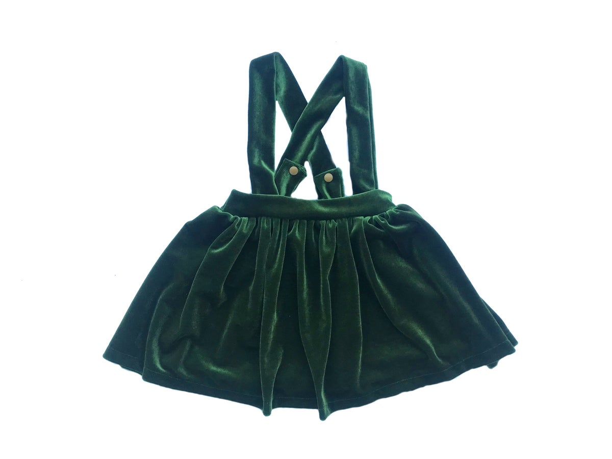 Image of Evergreen Velvet Scout Skirt