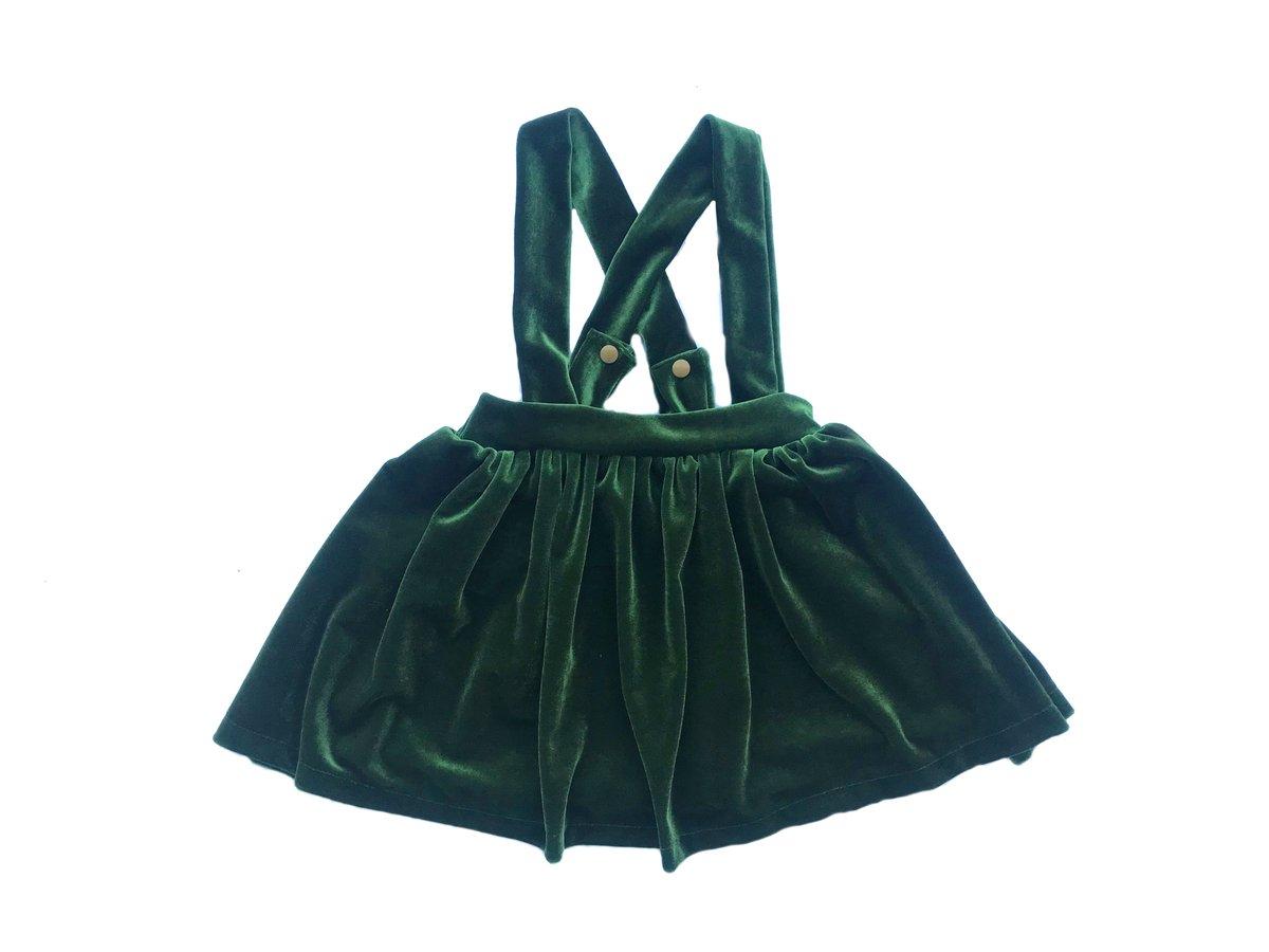 Image of Evergreen Velvet Scout Skirt
