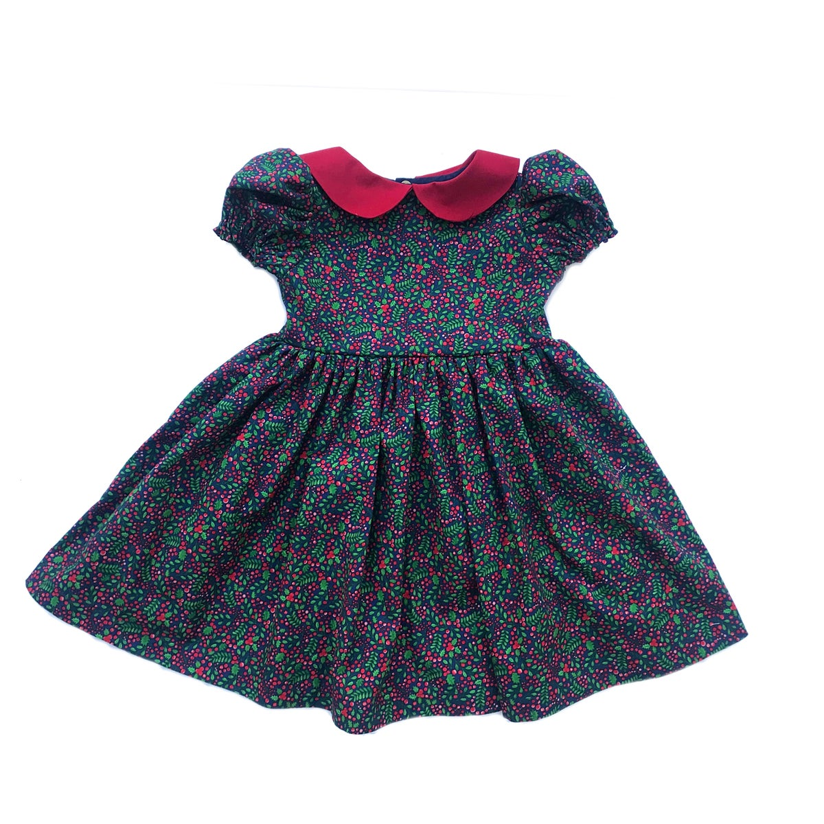 Image of Navy Holly Berry Dress