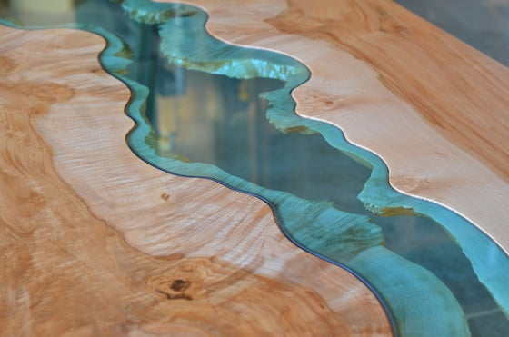 Image of big leaf maple river table