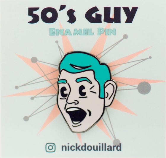 Image of 50's Guy Enamel Pin