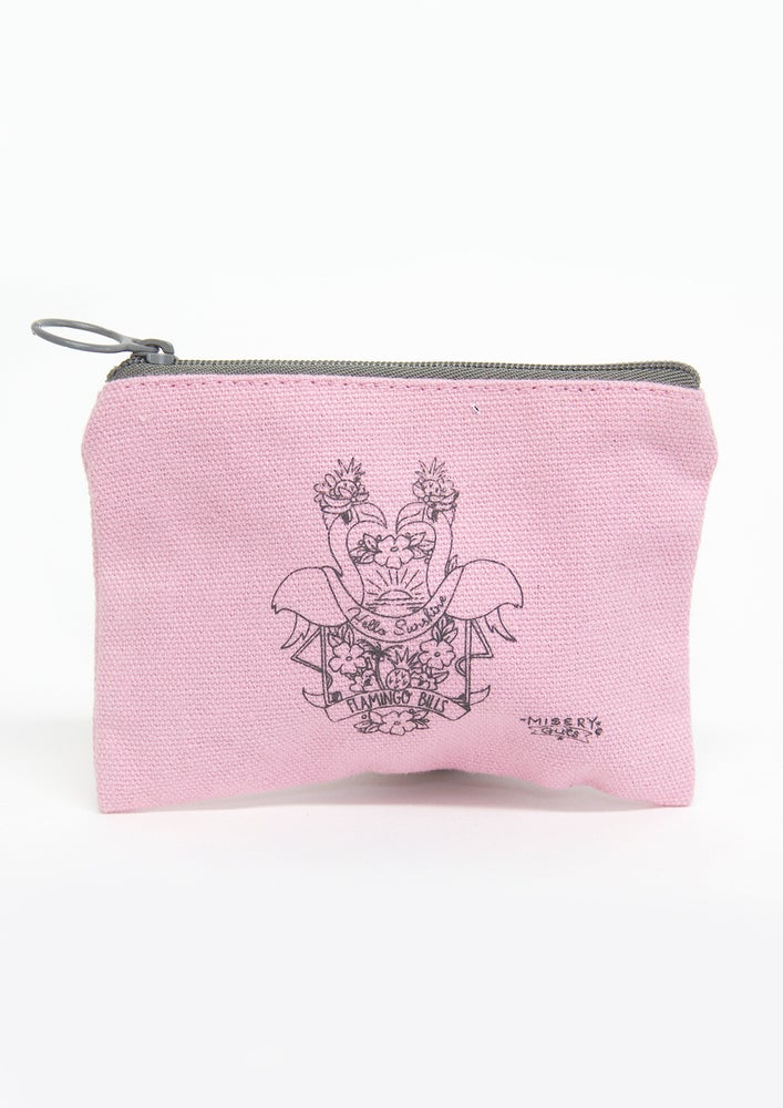 Image of Flamingo Hello Sunshine Money Pouch - Flamingo Bills