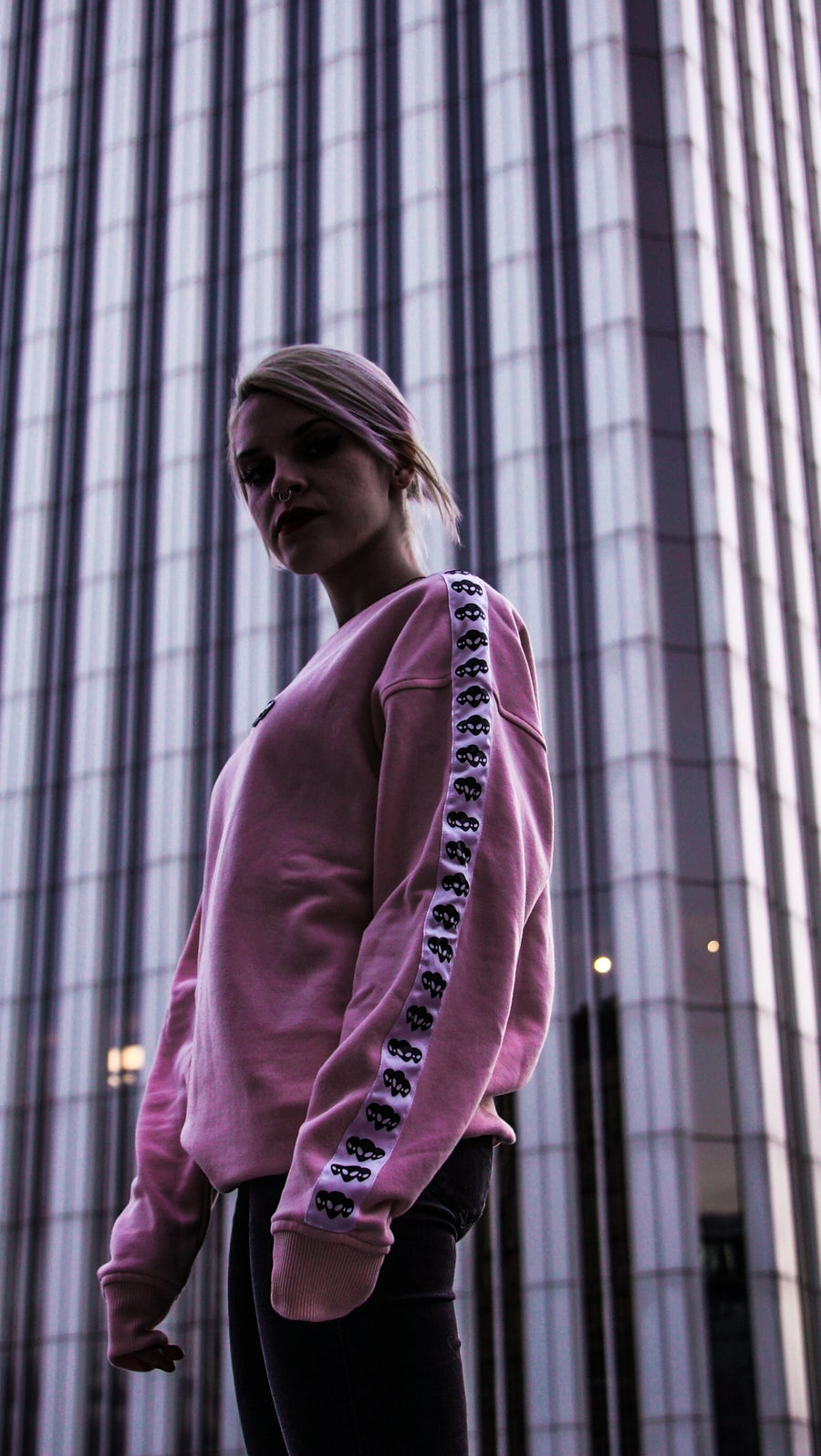 "Image of Sudadera ""Space Road"" Pink"