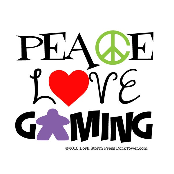 Image of Peace, Love and Gaming Print