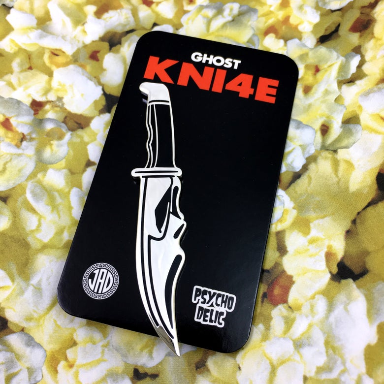 Image of Ghost Knife SILVER (Enamel Pin)