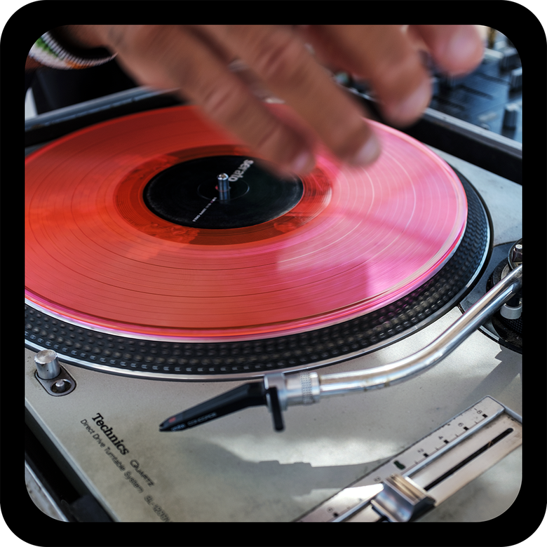 Image of DJ Turntables Drink Coasters