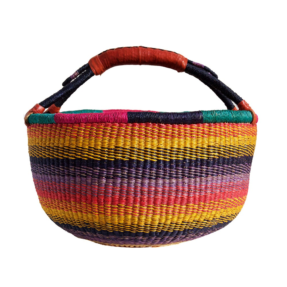 Image of Round Bolga Basket NO. 02