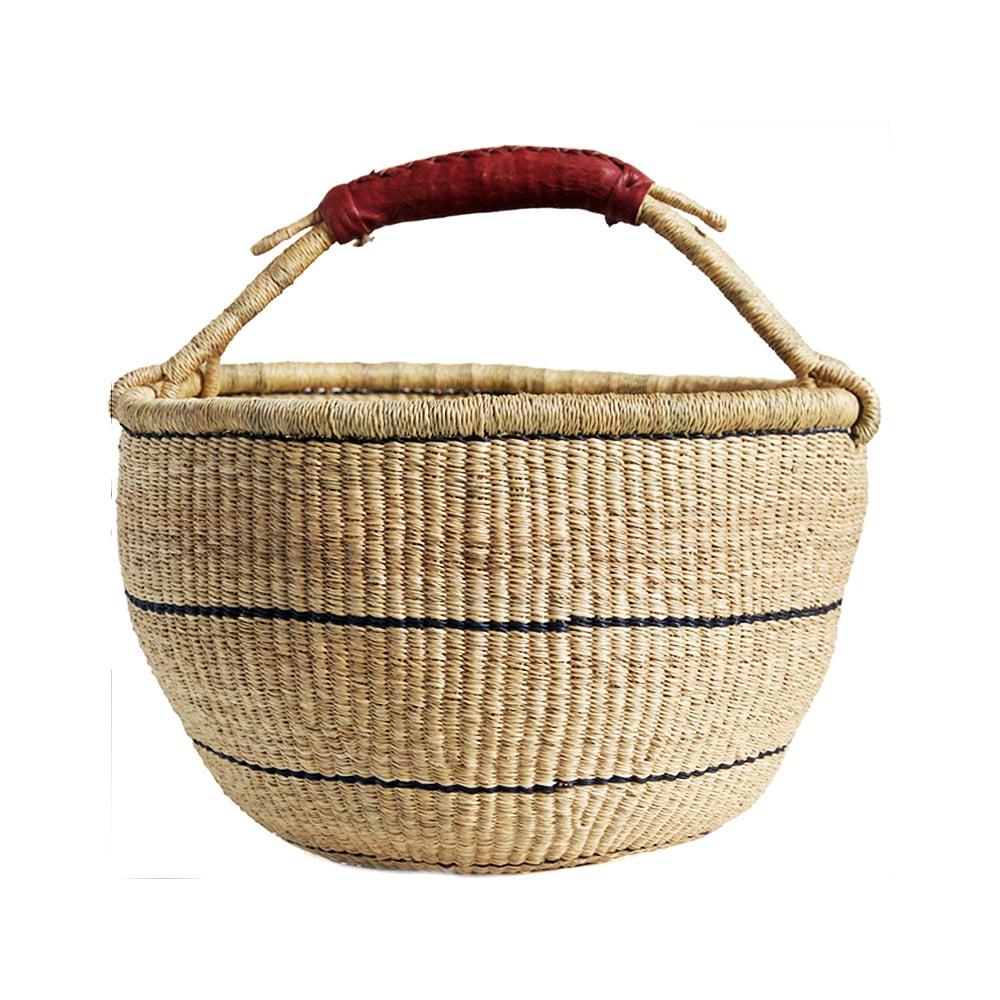 Image of Round Bolga Basket NO. 03