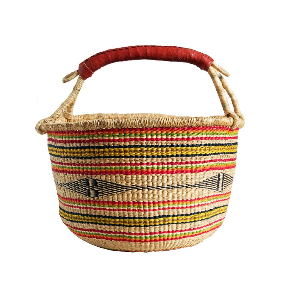 Image of Round Bolga Basket NO. 04